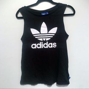 Adidas Black Logo Tank Top S
